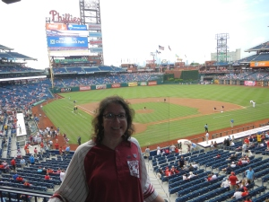 A beautiful view inside of Citizens Bank Park.  Thanks, Philadelphia Mayor Michael Nutter, for donating tickets to Tyler Arboretum!