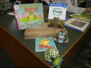 Frog information is available at the Tyler Arboretum visitor center!