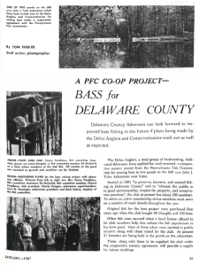 Screen shot of the article from the January 1967 issue of Pennsylvania Angler.