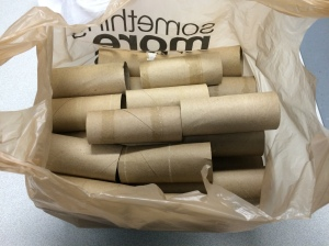 One of the bags of rolls that came in - and there were many more!