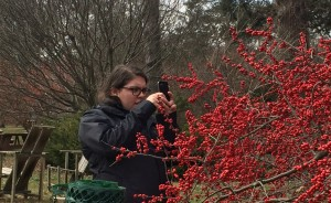 Abbey Dufoe, having fun with Instagram at Tyler Arboretum